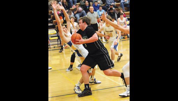 Cougar senior Tanner Osborne blows by a Mustang defender at Shepherd.
