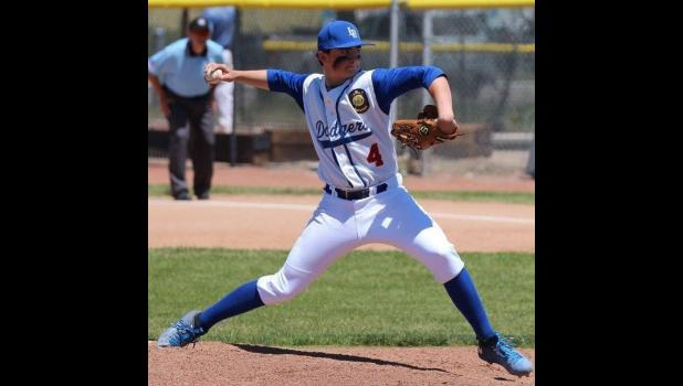 Carson West had award-worthy pitching performances this year with the Laurel Dodgers.