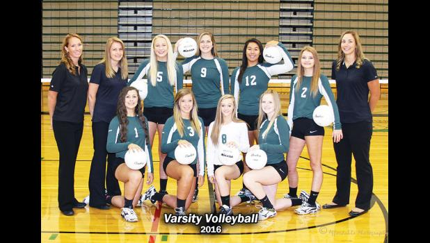 The Columbus High School Lady Cougar volleyball squad.