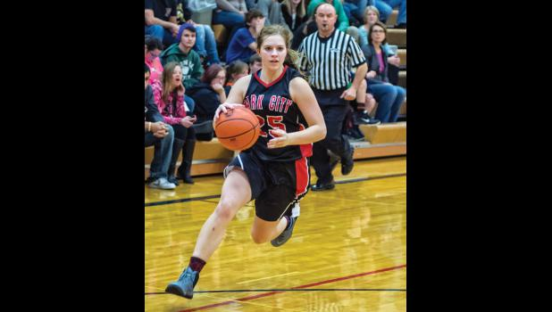 Panther junior Shelby Kluth drives for the basket.