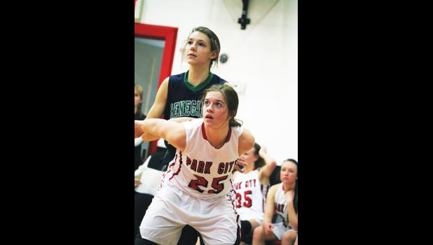 Panther Shelby Branstetter guards a Reed Point-Rapelje opponent.