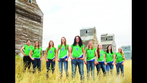 The Reed Point – Rapelje Renegade High School volleyball squad.