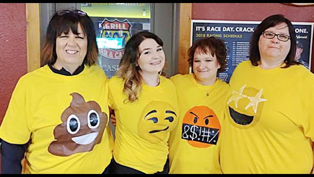 Emojis (from the left) Deanne Boyles, Kylee Coppinger-Zugaza, Jenny McCaulley and Tracy Gernant.