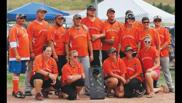 Emmett's Mechanical/Stillwater Packing finished in second place at the Carbon-Stillwater Co-ed Softball league tournament last Sunday.