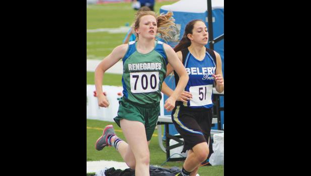 RPR's Jocelyn Ott competes in the 1,600 on Friday.  Ott finished with a time of 6:21.