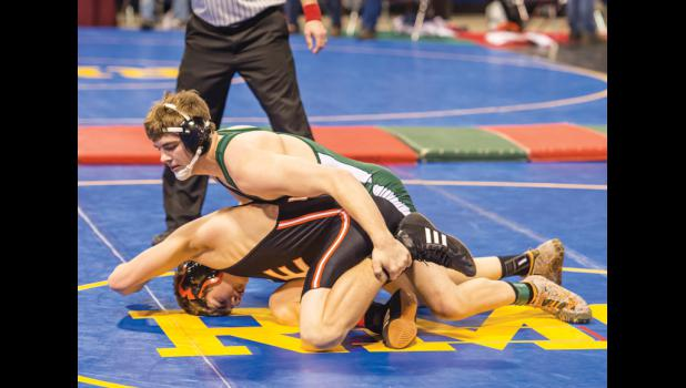 Will Griffel in action at state.