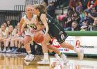 Columbus sophomore Brenna Rouane plays defense against the Joliet J-Hawks last Thursday.