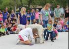 CES Principal Marlene Deis milks a goat last Wednesday.