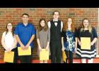 From the left: Meaghan Reed, Sam Murfitt, Emma Clinton, Travis McKenney, Sabrina Mann, and Jezebel Robuck